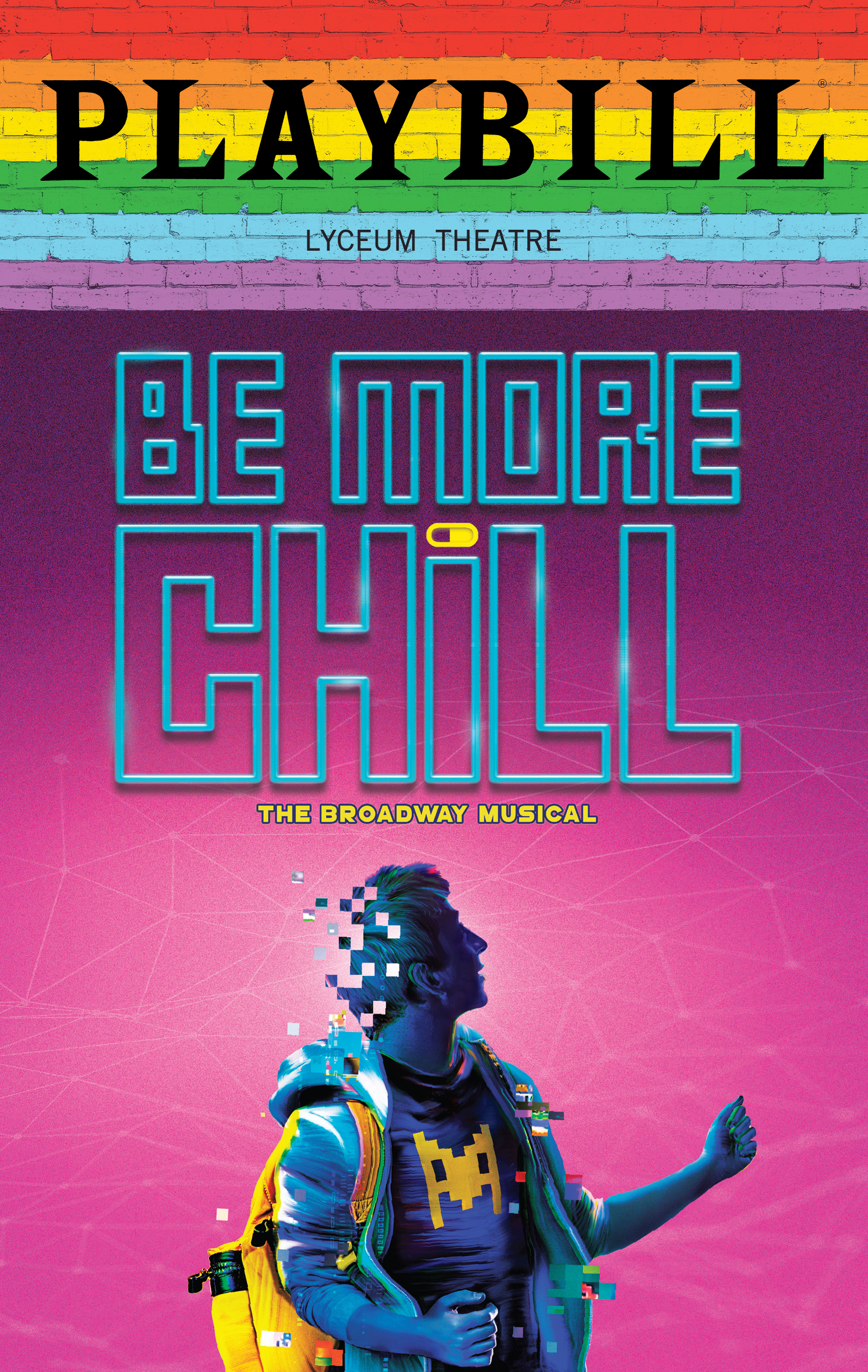 Be More Chill June 2019 Playbill With Rainbow Pride Logo