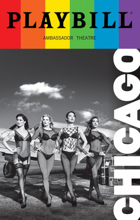 Chicago June 2017 Playbill With Rainbow Pride Logo