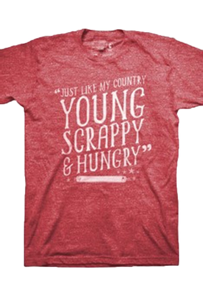 Hamilton The Broadway Musical Young Scrappy Red Tee