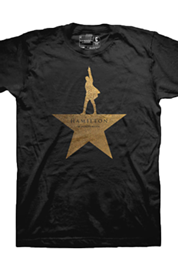 Hamilton The Broadway Musical Gold Star Show Tee