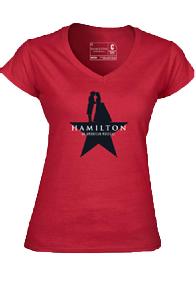 Hamilton The Broadway Musical Ladies Star V Neck