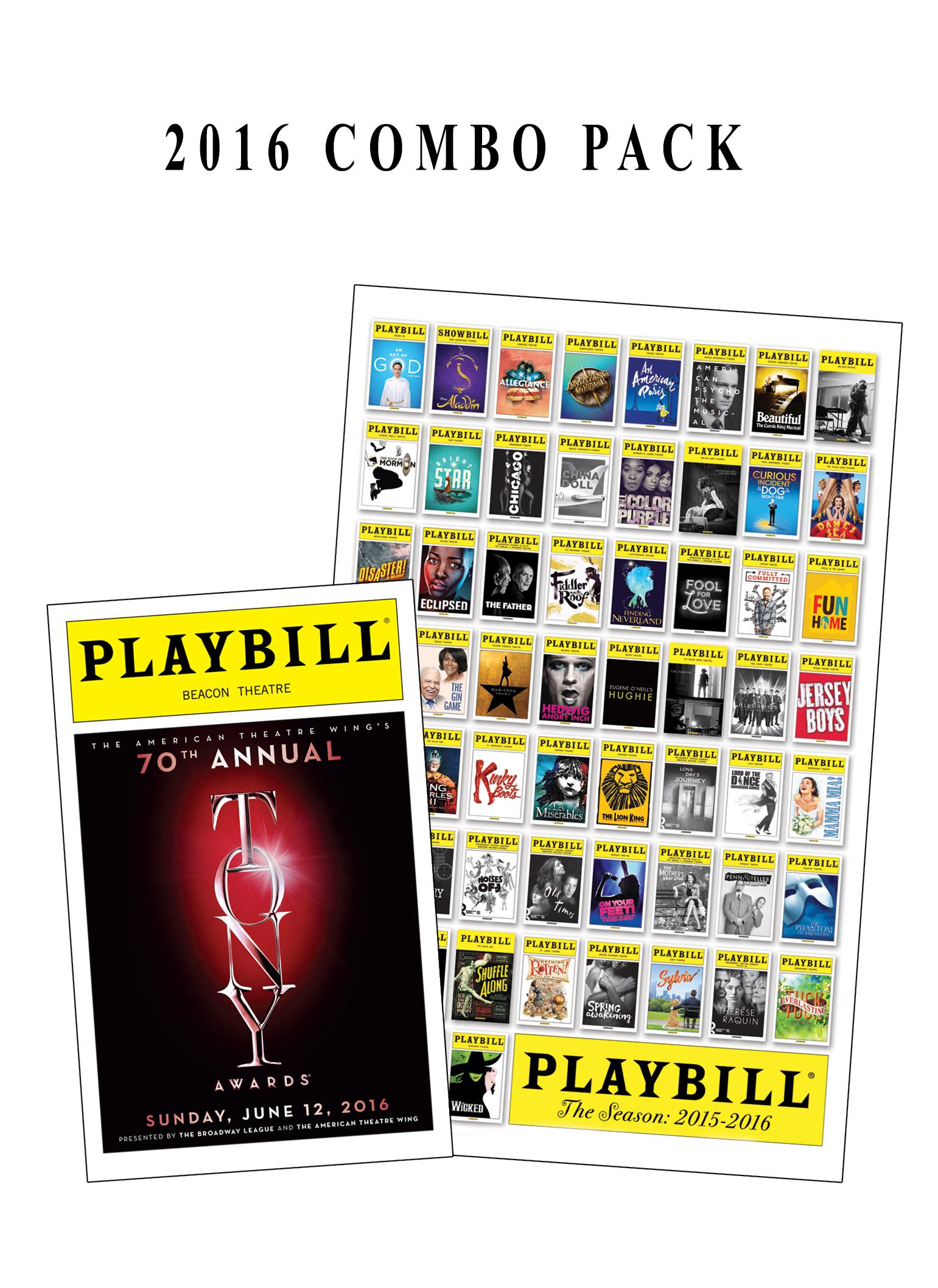 Playbill Tony Awards Playbill Amp Season Poster Combo