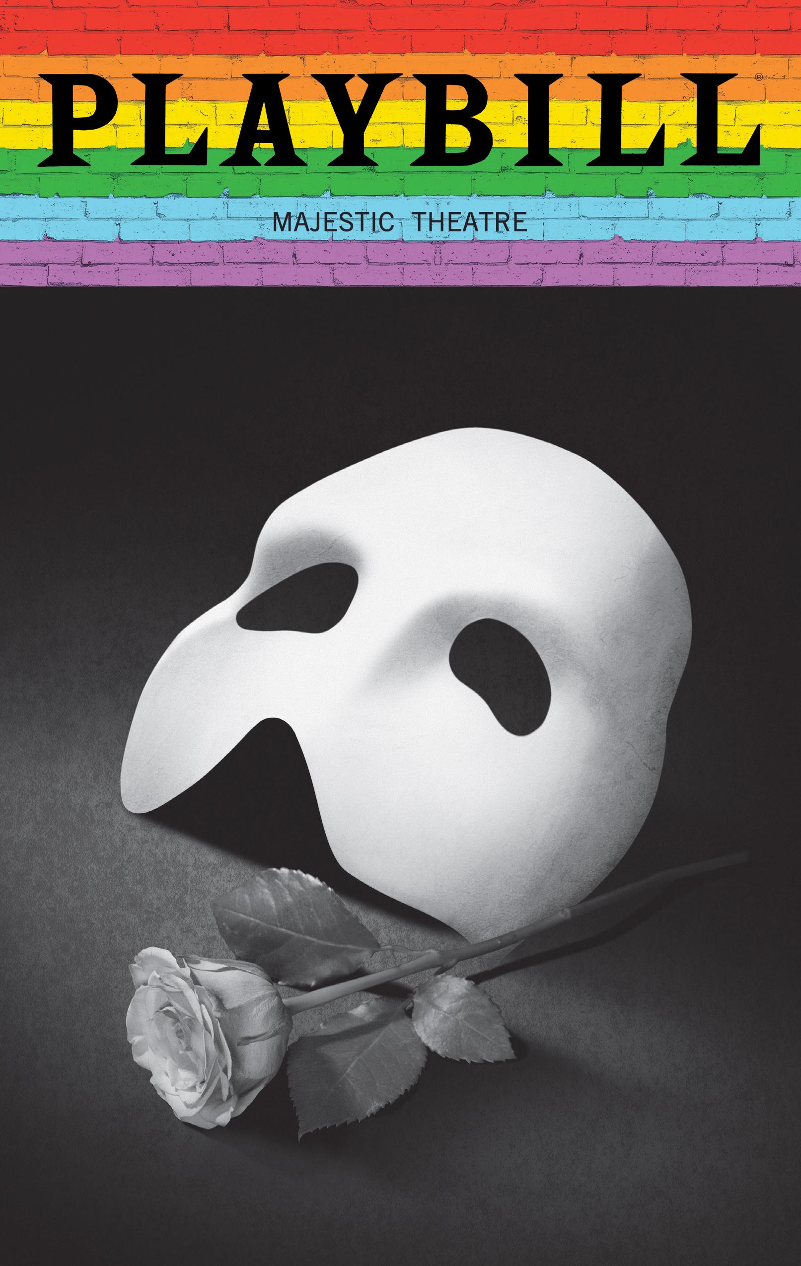 The Phantom Of The Opera June 2019 Playbill With Rainbow