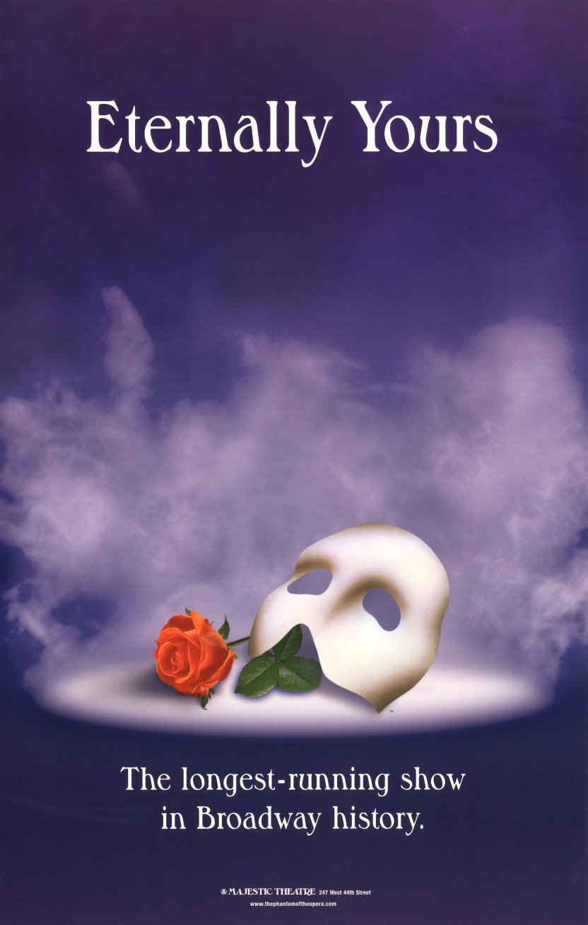 Phantom Of The Opera The Musical Broadway Poster The