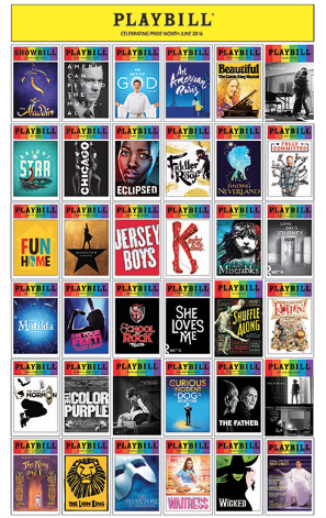 Playbill Pride 2016 Poster Playbill Gifts