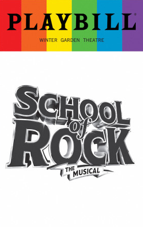 School Of Rock June 2017 Playbill With Rainbow Pride