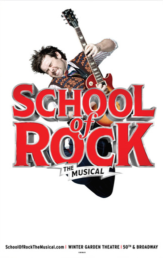 School Of Rock The Official Broadway Poster School Of