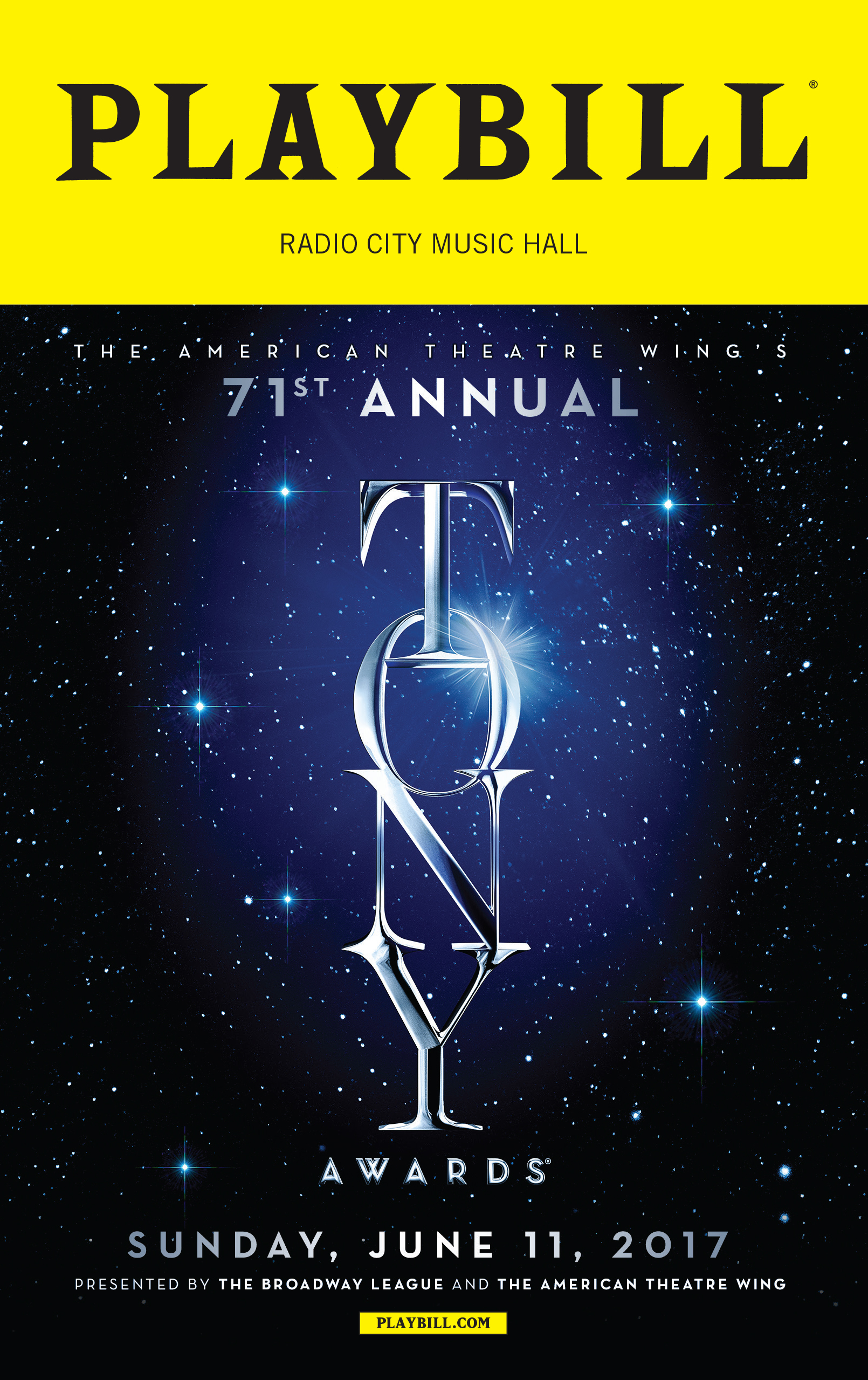 The 2017 Tony Awards Playbill Opening Night And Special