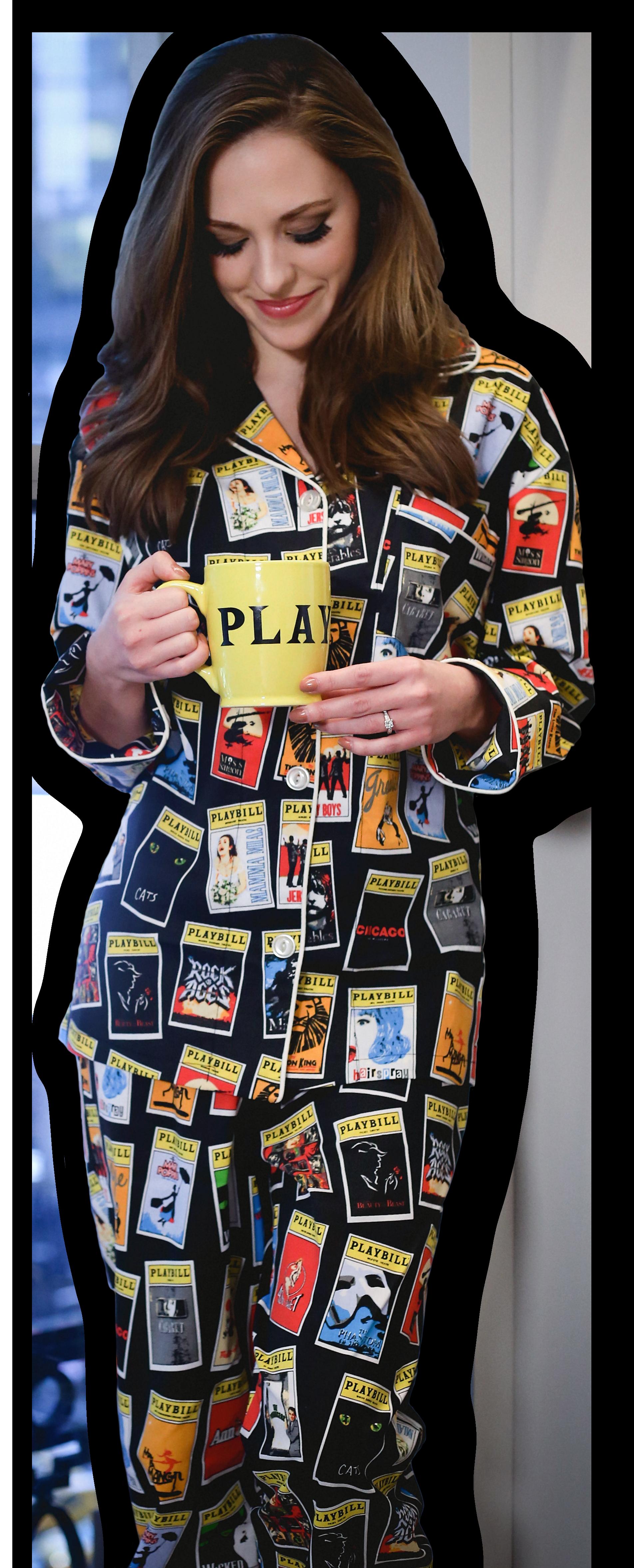 the black playbill pajamas for women pajamas playbillstore com