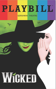 Wicked June 2017 Playbill With Rainbow Pride Logo