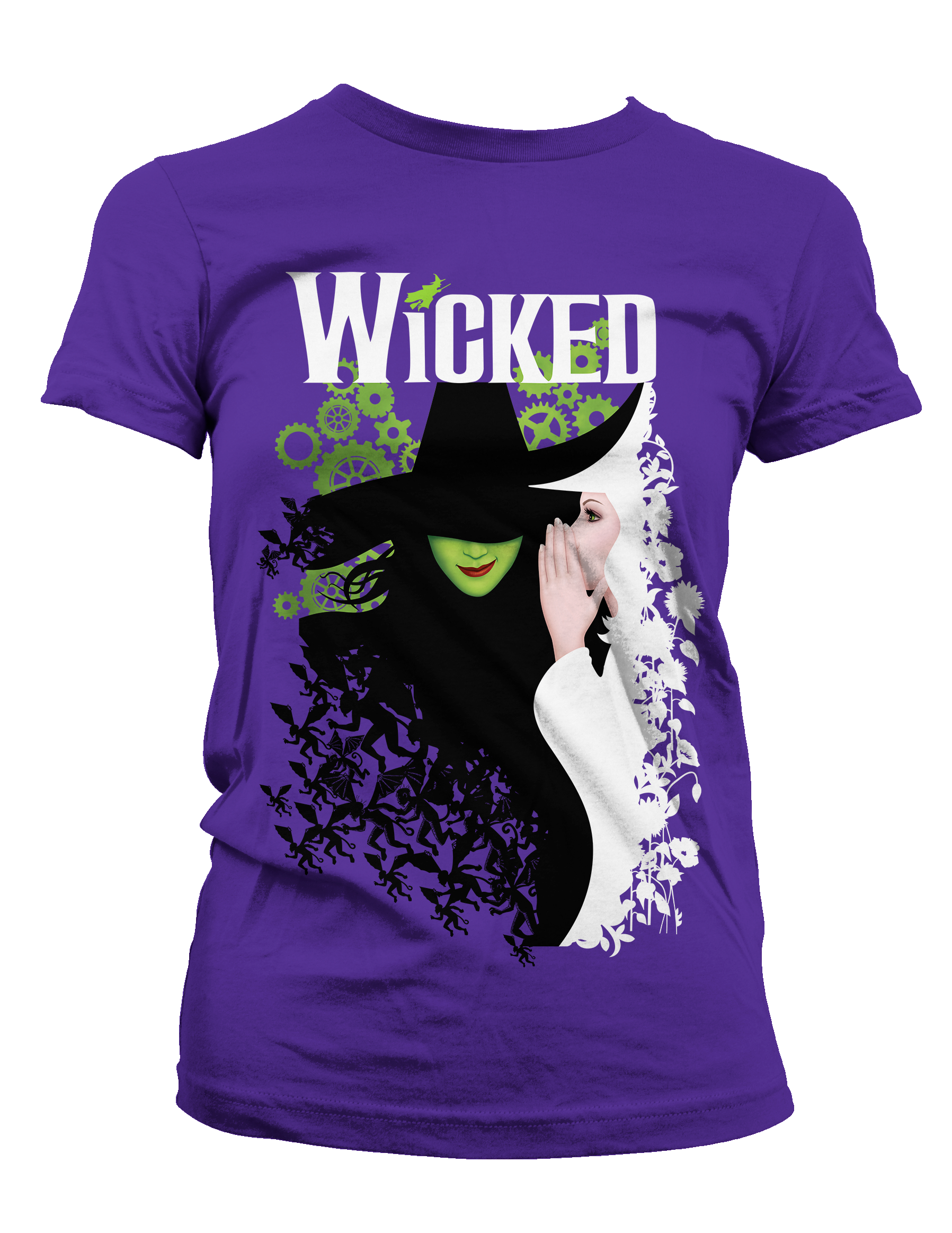 Wicked The Broadway Musical Two Witches Ladies T Shirt