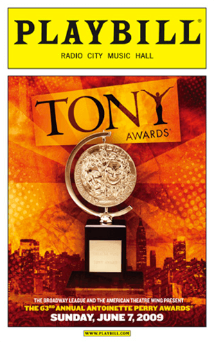 2009 Tony Awards Playbill Opening Night And Special