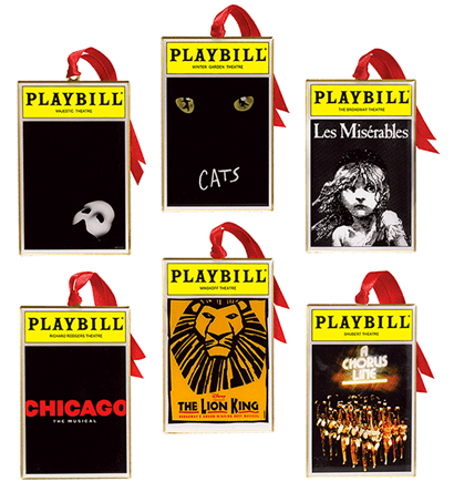 2012 Playbill Ornaments From The Broadway Cares Classic
