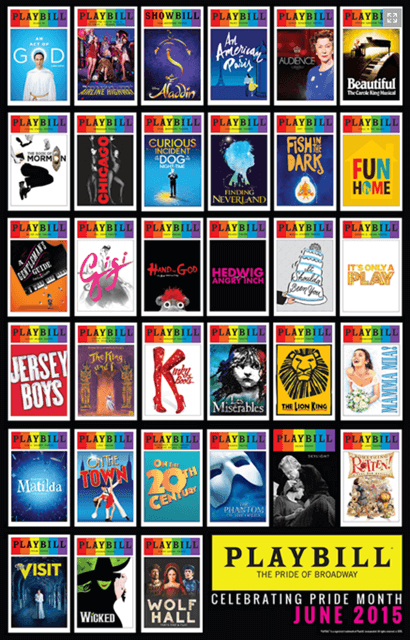 2015 Playbill Pride Poster Posters Window Cards