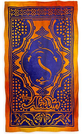 Aladdin The Broadway Musical Magic Carpet Beach Towel
