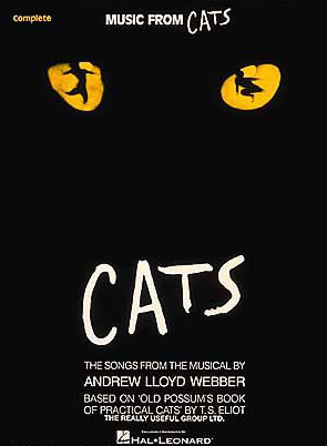 Cats Piano Vocal Selections Songbook Broadway Books Piano Vocal Sheet Music Playbillstore Com