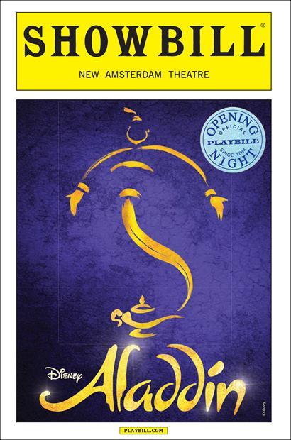 Disney S Aladdin Limited Edition Opening Night Showbill