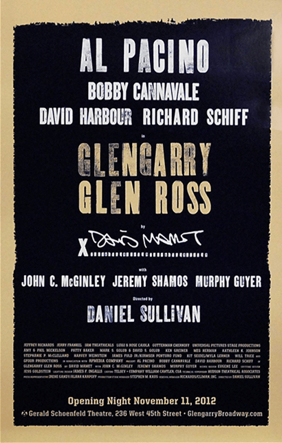 Glengarry Glen Ross the Broadway Play Poster - Posters ...