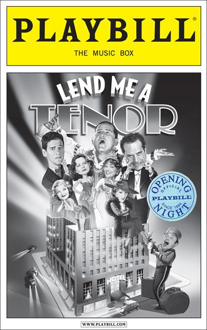 Lend Me A Tenor Limited Edition Official Opening Night