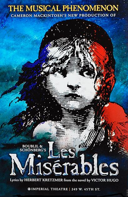 Les Miserables Broadway Poster 2014 Revival Les