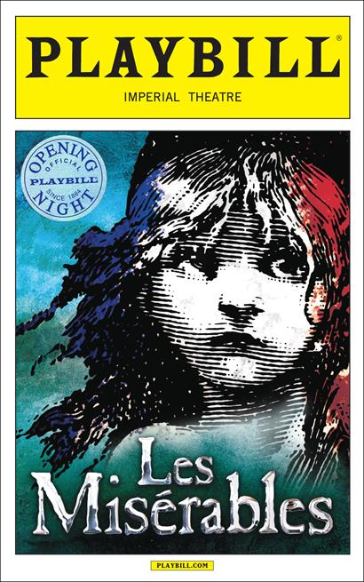 Les Miserables Limited Edition Official Opening Night