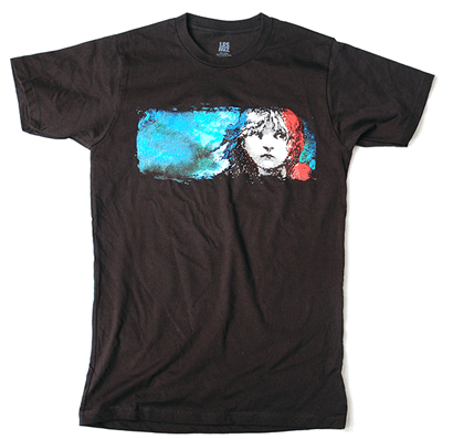 Les Miserables The Broadway Musical Black Logo T Shirt