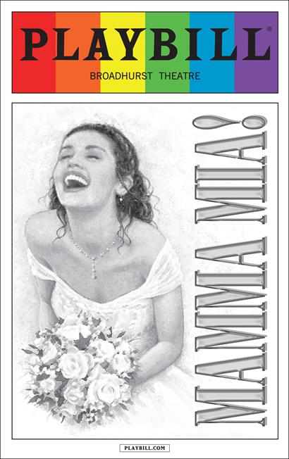 Mamma Mia June 2015 Playbill With Rainbow Pride Logo