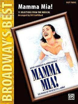 Mamma Mia Piano Vocal Selections Songbook Mamma Mia