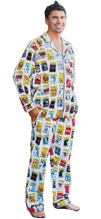 white playbill pajamas for men pajamas playbillstore com