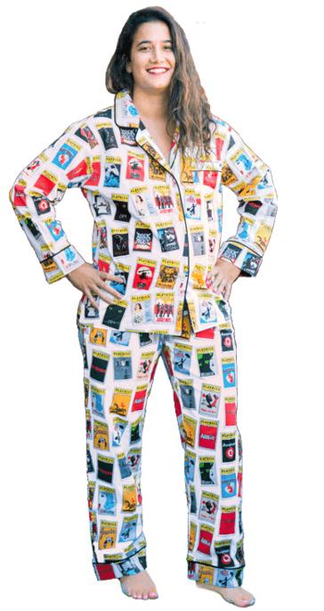 2bf88e3b9b White Playbill Pajamas for Women - Pajamas