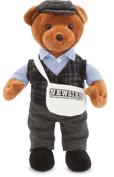 Newsies The Musical Newsboy Plush Bear Newsies