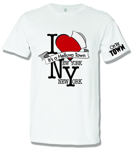 On the Town the Broadway Musical - I Love New York T-Shirt - TOWN005 ... 7ae7a55dc21