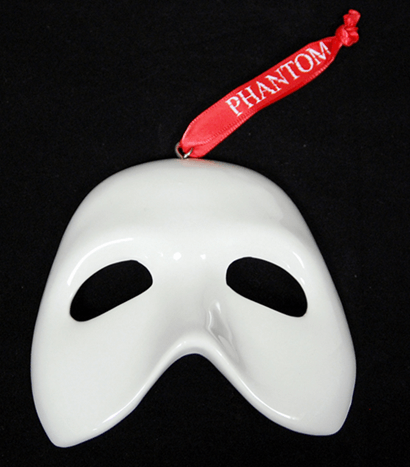 Phantom of the Opera the Broadway Musical - Collectible Ceramic Mask  Ornament - Phantom Of The Opera The Broadway Musical - Collectible Ceramic Mask