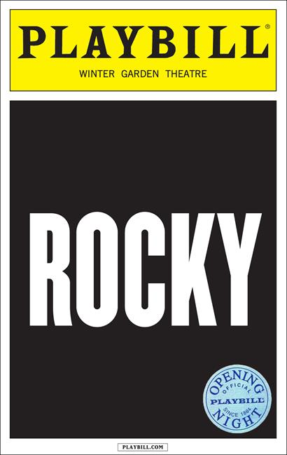 Rocky The Musical Limited Edition Opening Night Playbill
