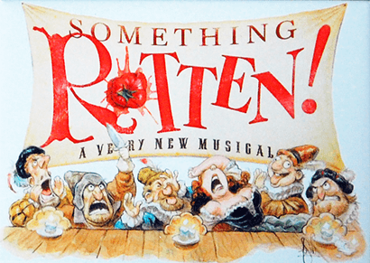 Something Rotten The Broadway Musical Logo Magnet