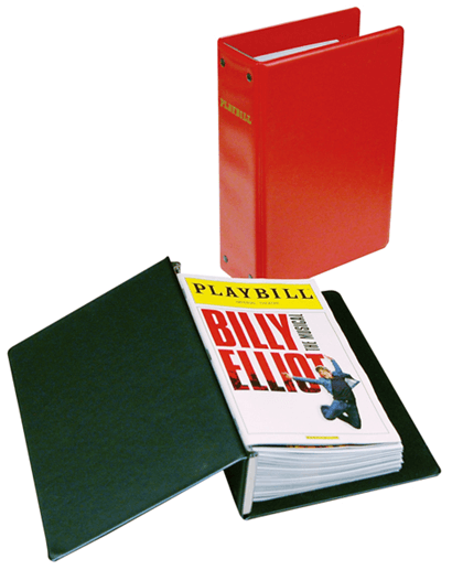 the basic playbill binder economical storage for your playbill