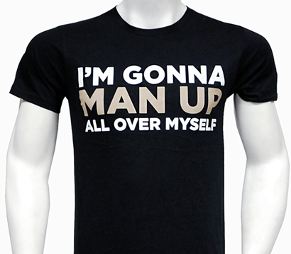 6e6823dfbd The Book of Mormon the Broadway Musical - Man Up T-Shirt - The Book of  Mormon | PlaybillStore.com