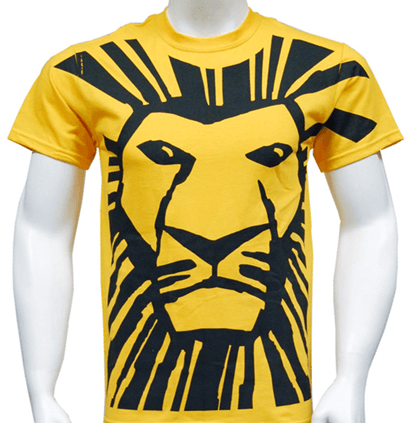 443deb3d The Lion King the Broadway Musical - All Over Simba Print T-Shirt ...