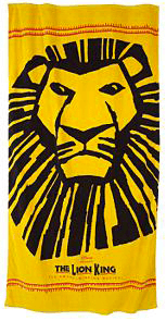 The Lion King The Broadway Musical Logo Beach Towel