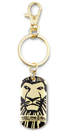 The Lion King The Broadway Musical Metal Logo Keychain The Lion