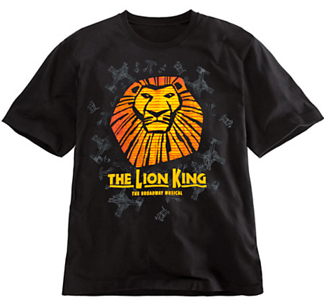 The Lion King The Broadway Musical Sun Logo T Shirt For Adults