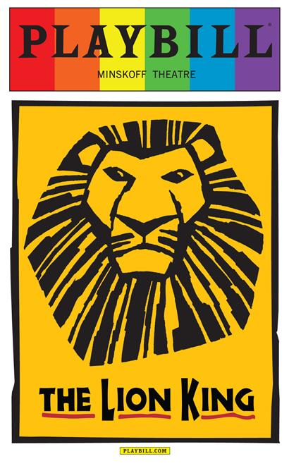 The Lion King The Musical June 2015 Playbill With