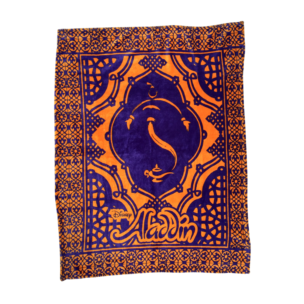 Aladdin The Broadway Musical Show Logo Fleece Throw
