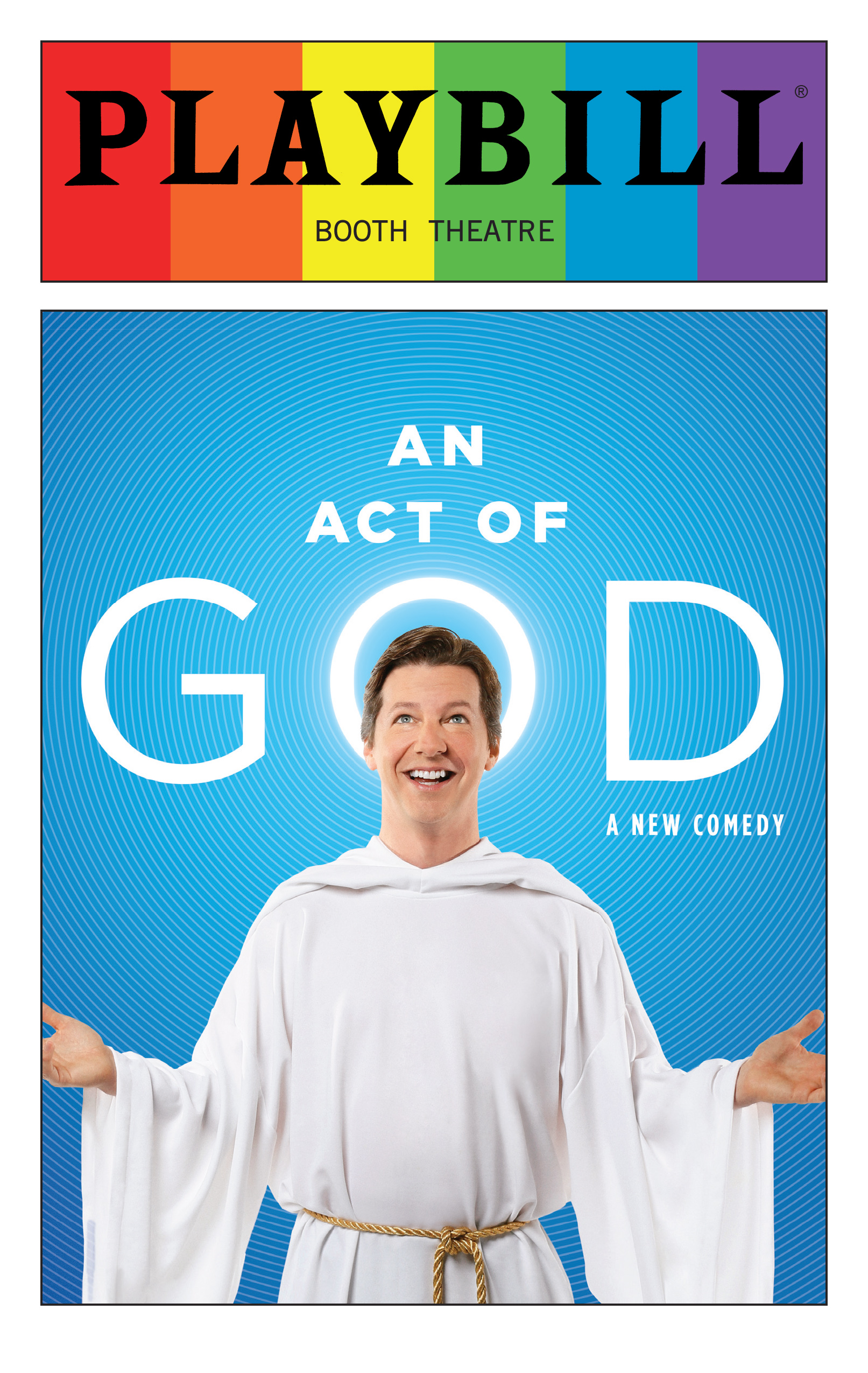An Act of God - June 2016 Playbill with Rainbow Pride Logo ...