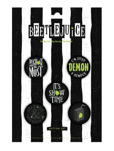 Beetlejuice The Broadway Musical Button Set Beetlejuice
