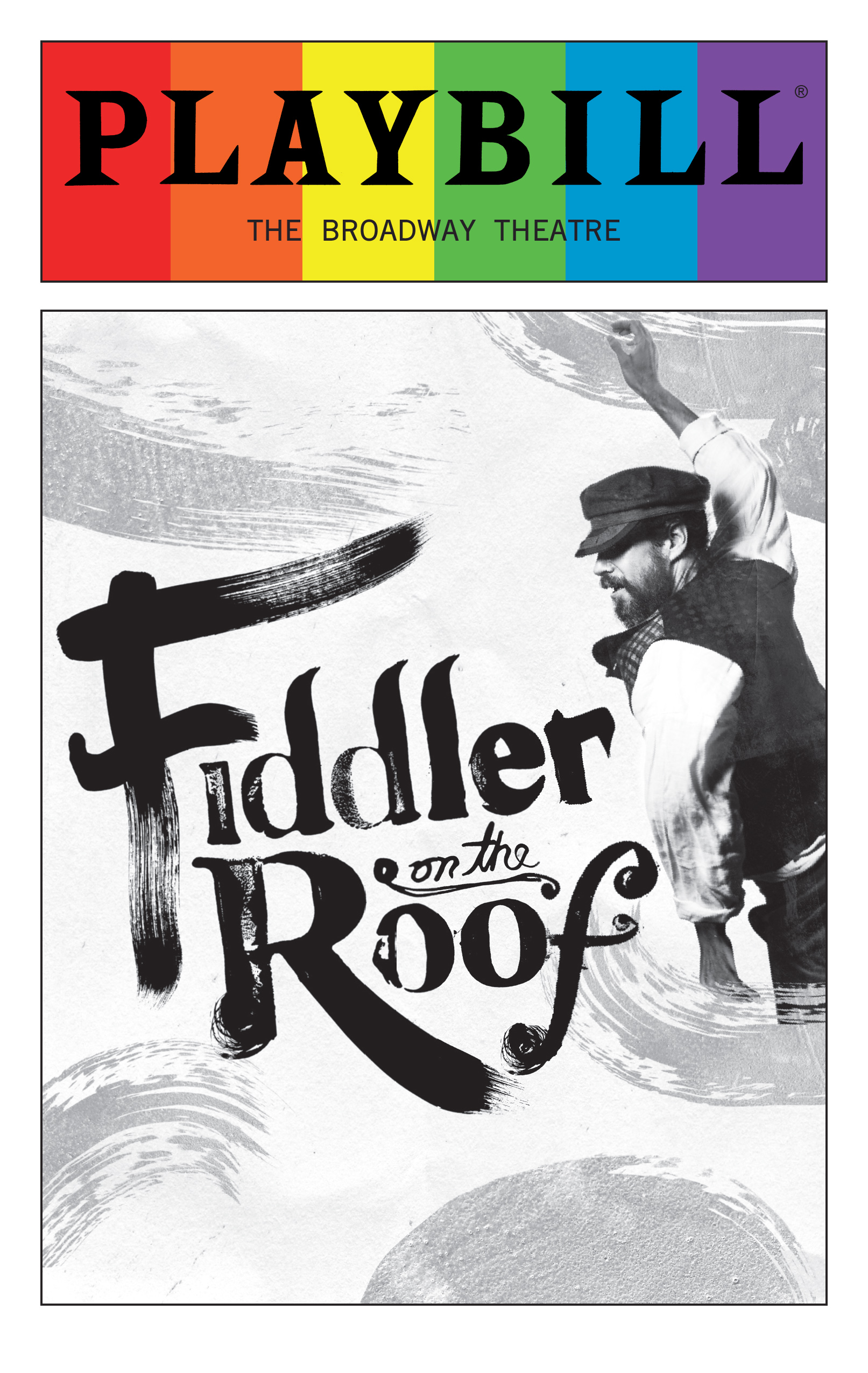 Fiddler On The Roof June 2016 Playbill With Rainbow