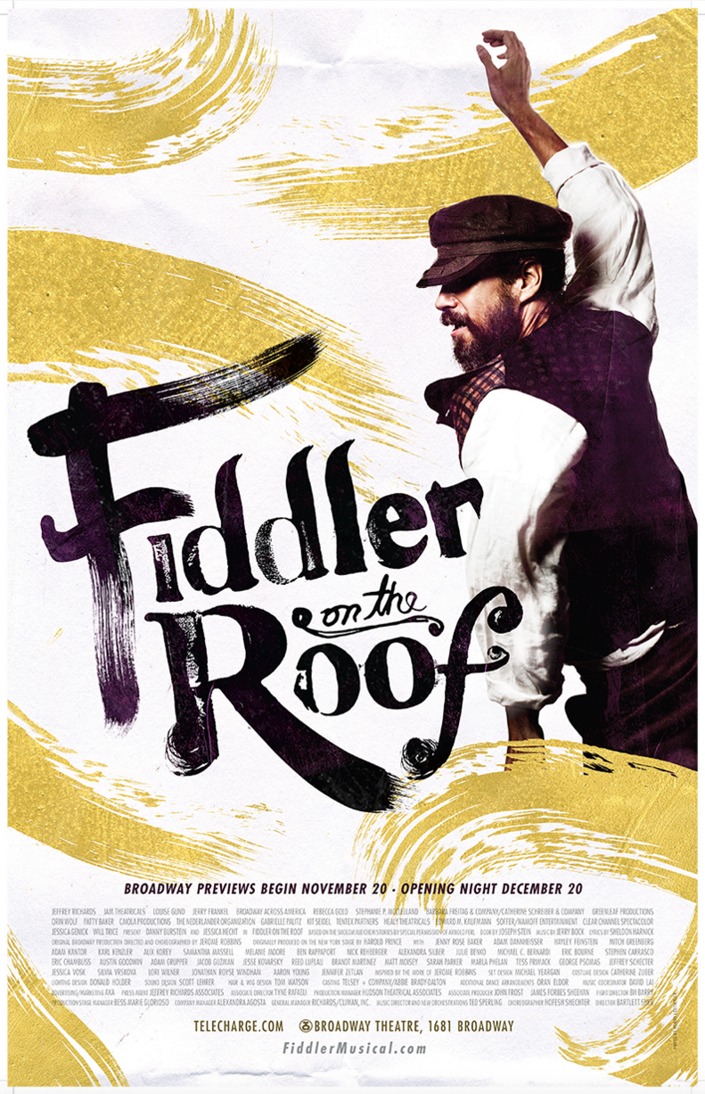 Fiddler On The Roof The Musical Broadway Poster Posters Window Cards Playbillstore Com