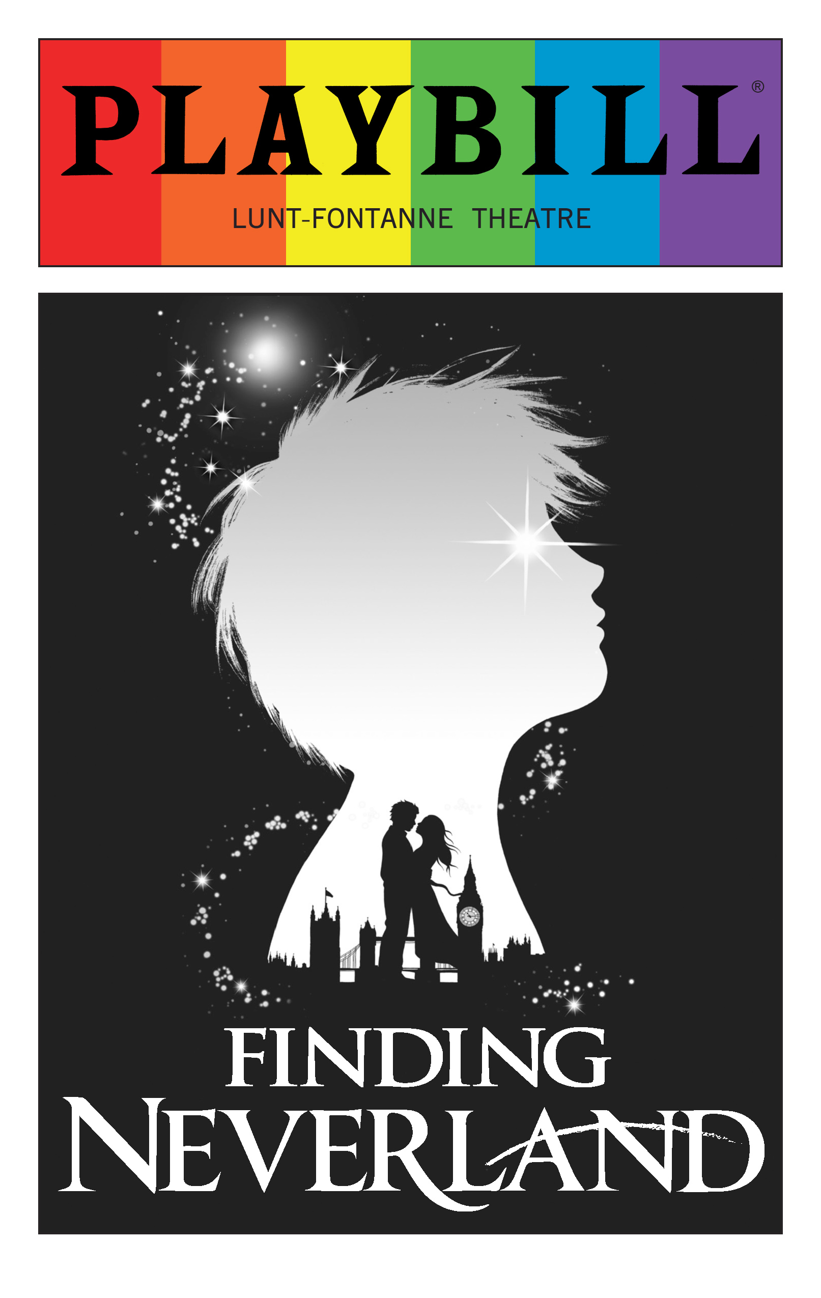 Finding Neverland June 2016 Playbill With Rainbow Pride