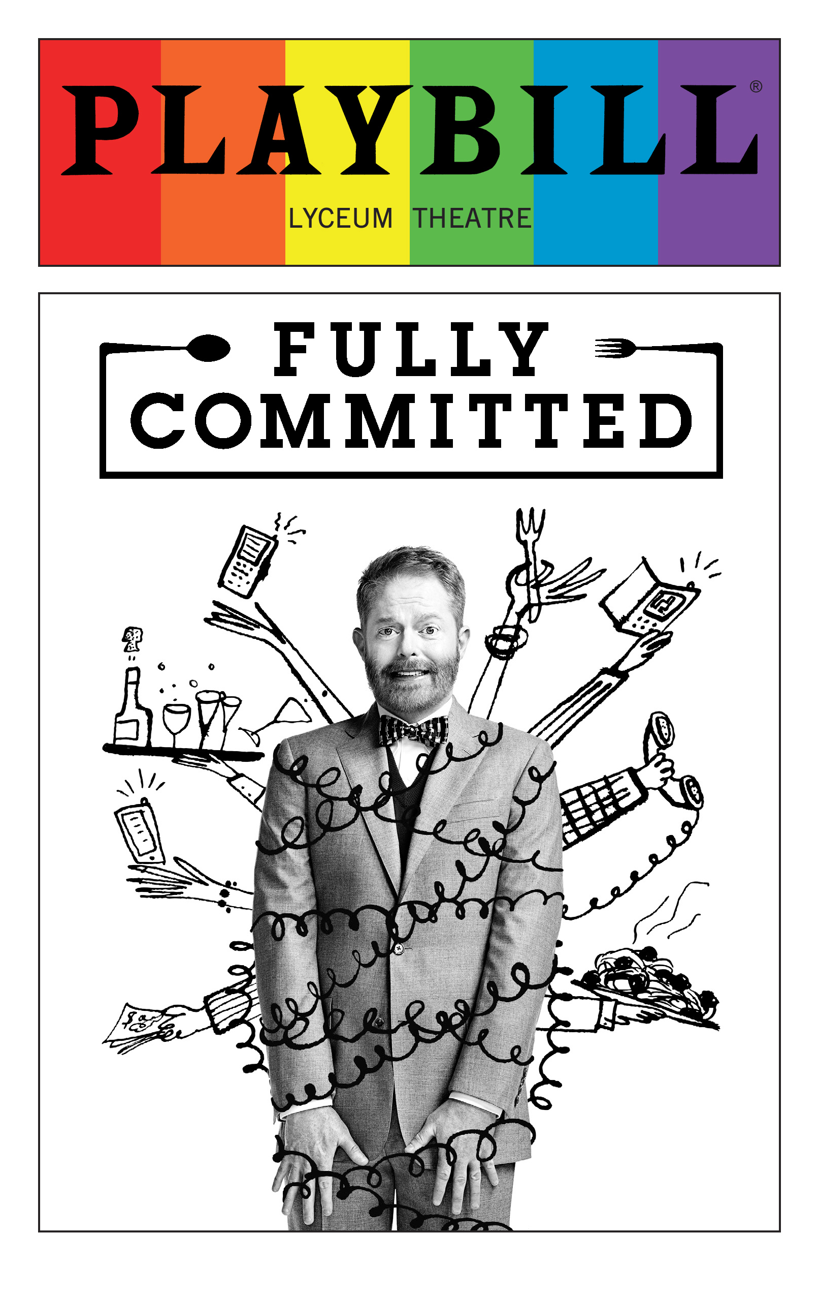Fully Committed June 2016 Playbill With Rainbow Pride