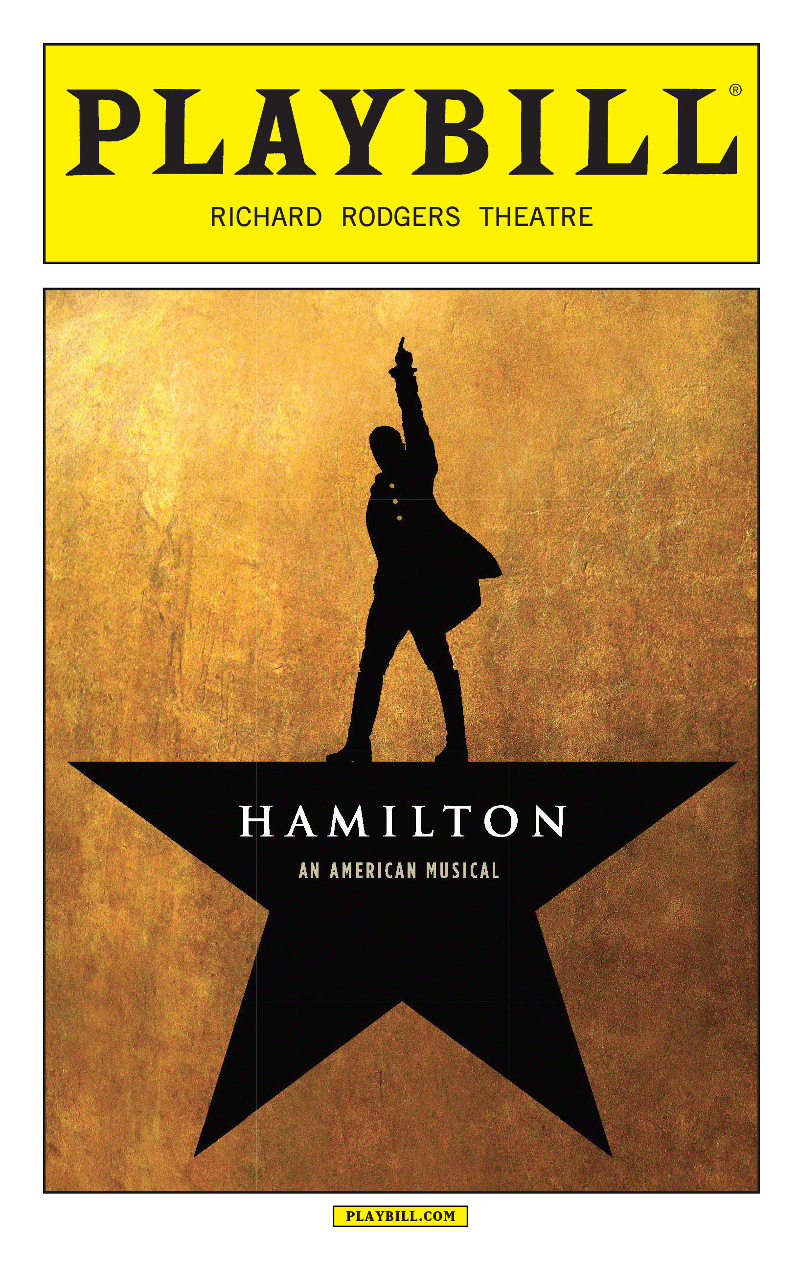 Hamilton The Musical July Playbill 2016 Hamilton The